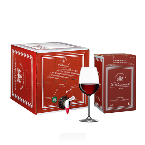 Vin AOC Castillon-Côtes de Bordeaux ROUGE 2017 bag in box 10